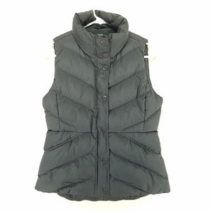 J. Crew Down Puffer Vest XS Gray